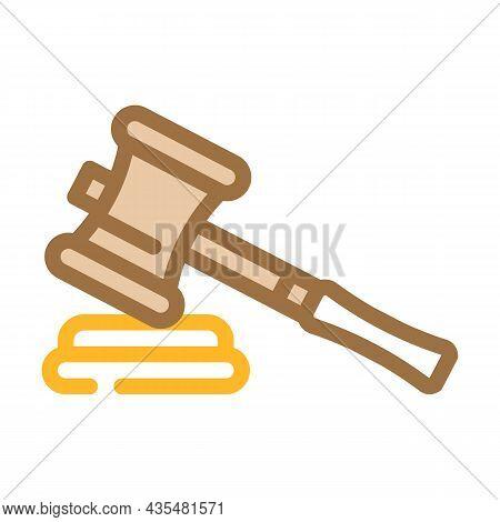Judge Trial Divorce Color Icon Vector. Judge Trial Divorce Sign. Isolated Symbol Illustration