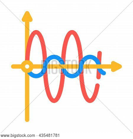 Graph Of Electromagnetic Waves Color Icon Vector. Graph Of Electromagnetic Waves Sign. Isolated Symb