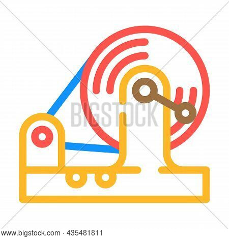 Testing Equipment Electromagnetic Color Icon Vector. Testing Equipment Electromagnetic Sign. Isolate
