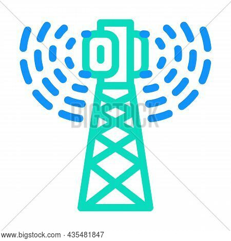 Antenna Electromagnetic Color Icon Vector. Antenna Electromagnetic Sign. Isolated Symbol Illustratio
