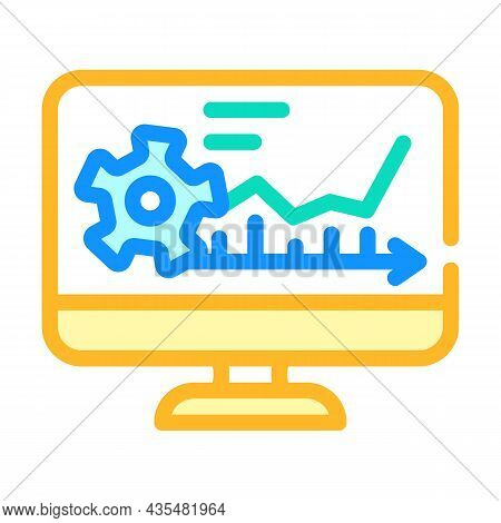 Software Erp Color Icon Vector. Software Erp Sign. Isolated Symbol Illustration