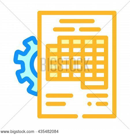 Accounting Working Process Erp Color Icon Vector. Accounting Working Process Erp Sign. Isolated Symb