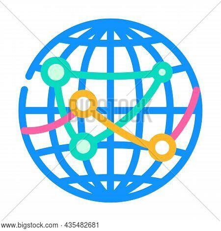 International Logistics Business Color Icon Vector. International Logistics Business Sign. Isolated