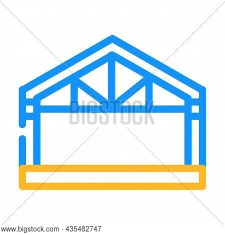 Garage Metal Frame Color Icon Vector. Garage Metal Frame Sign. Isolated Symbol Illustration