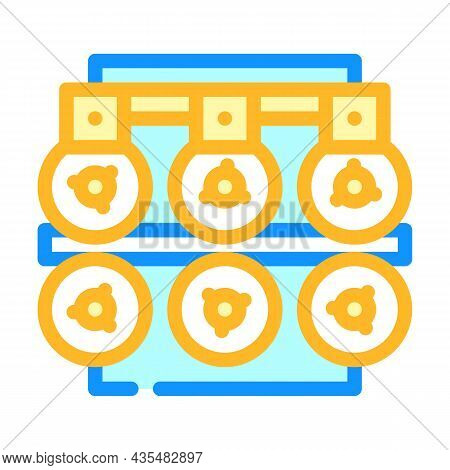 Metal List Production Industry Machine Color Icon Vector. Metal List Production Industry Machine Sig