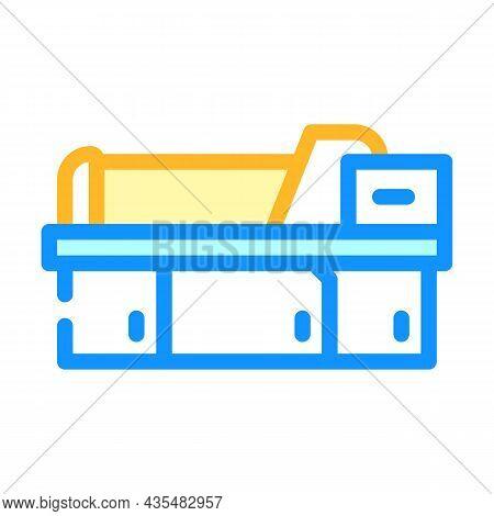 Metal Material Part Production Factory Machine Color Icon Vector. Metal Material Part Production Fac