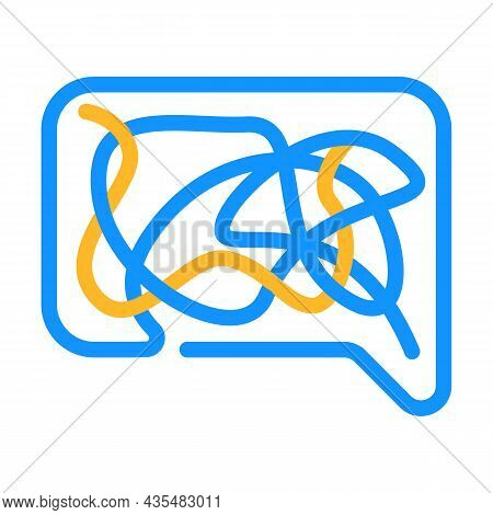 Confusing Dialogue Color Icon Vector. Confusing Dialogue Sign. Isolated Symbol Illustration