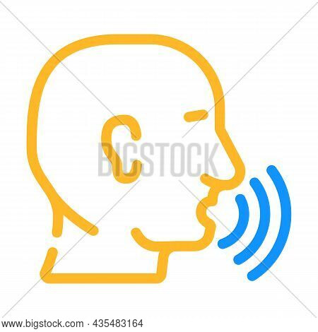 Talking And Discussing Human Color Icon Vector. Talking And Discussing Human Sign. Isolated Symbol I