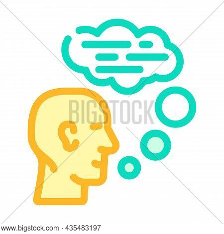 Speaking Human Color Icon Vector. Speaking Human Sign. Isolated Symbol Illustration