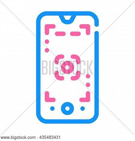 Macro Photography Phone Camera Color Icon Vector. Macro Photography Phone Camera Sign. Isolated Symb