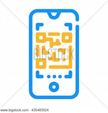 Qr Code Scanner Color Icon Vector. Qr Code Scanner Sign. Isolated Symbol Illustration