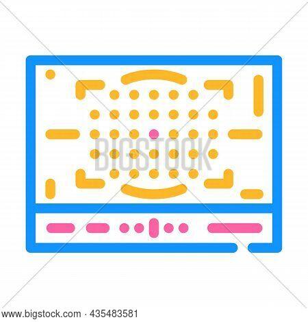 Photo Camera Display Color Icon Vector. Photo Camera Display Sign. Isolated Symbol Illustration