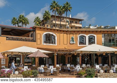 Portals Nous, Spain; October 03 2021: General View Of The Terrace With Customers Of The Wellies Rest