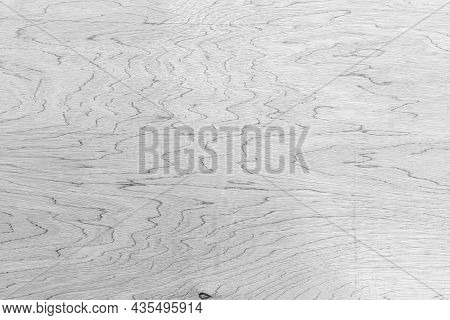 Old Plywood Surface Made In Black And White. The Softness Of Striped Plywood Texture For Background.