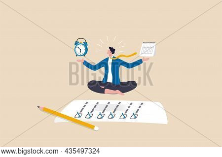 Self Discipline Or Self Control To Complete Work Or Achieve Business Target, Time Management To Incr