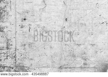 White Grunge Cement Or Concrete Painted Wall Texture. The White Concrete Stone. Concrete Plastered S