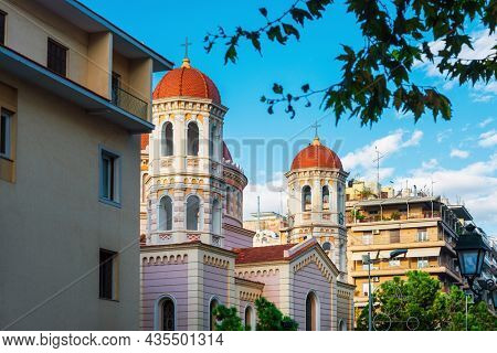Traditional Cathedral building in Thessaloniki, Greece