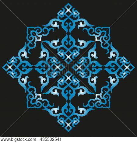 Vector Oriental Chinese Ornament, Asian Traditional Pattern, Floral Vintage Element, Cut Silhouette,