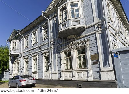 Irkutsk, Russia - August , 2021: The Main House Of The Estate Of The Decembrist Sergey Grigorievich
