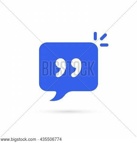 Comment Bubble Like Simple Quote Icon. Flat Cartoon Trend Modern Textbox Logotype Graphic Art Design