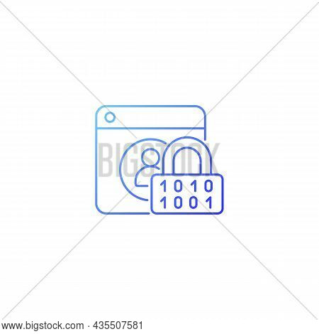 Password Encryption Gradient Linear Vector Icon. Database Control. Online Privacy. Password Manageme