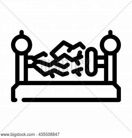 Electromagnetic Device Line Icon Vector. Electromagnetic Device Sign. Isolated Contour Symbol Black