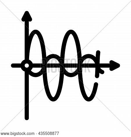 Graph Of Electromagnetic Waves Line Icon Vector. Graph Of Electromagnetic Waves Sign. Isolated Conto
