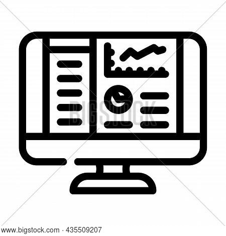 Reporting System Line Icon Vector. Reporting System Sign. Isolated Contour Symbol Black Illustration