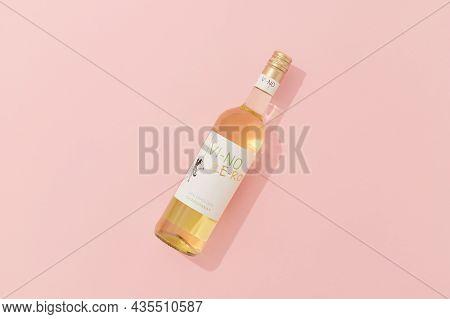 Kyiv, Ukraine - September 22, 2021. Bottle Of Alcohol Free Vi-no Ze-ro Cabernet Sauvignon White Wine