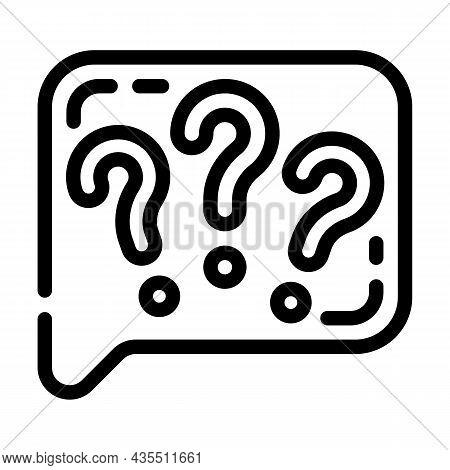 Question Speak Line Icon Vector. Question Speak Sign. Isolated Contour Symbol Black Illustration