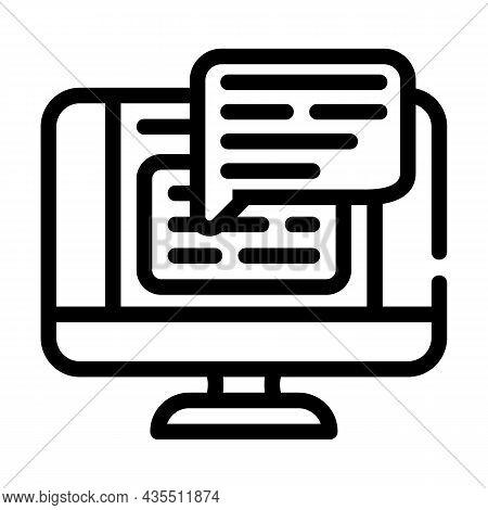 Web Conversation Chat Line Icon Vector. Web Conversation Chat Sign. Isolated Contour Symbol Black Il
