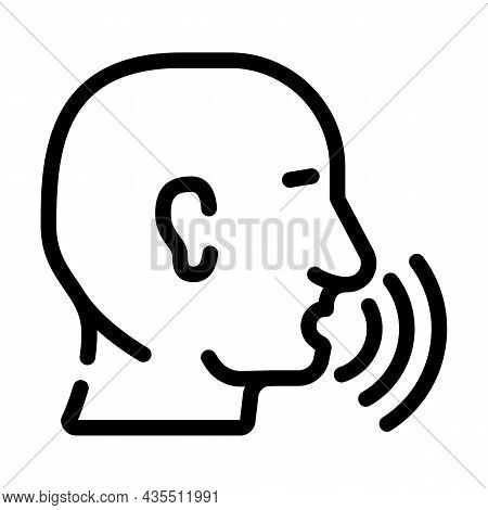 Talking And Discussing Human Line Icon Vector. Talking And Discussing Human Sign. Isolated Contour S