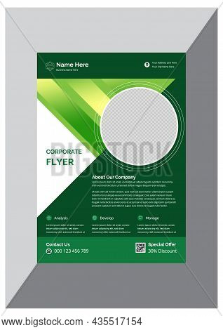 Stylish Modern Corporate Business Agency Flyer Design Template