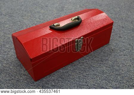 A Red Tool Box That Contains A Lot Of Tools, This Box Makes It Easier For Workers To Store Their Too
