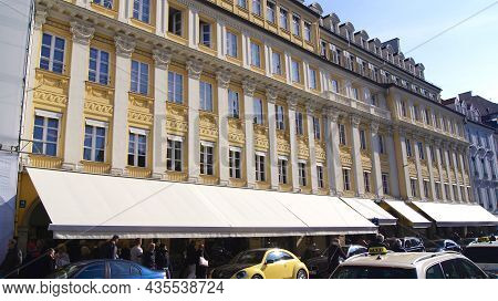 Munich, Germany - 12 Oct 2015: Exterior View Of The Alois Dallmayr Haus In Downtown Munich. Dallmayr