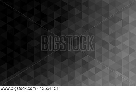 Abstract Background. Pattern Triangle Shape And Diamond Shape. Gradient Black Fade To Gray. Texture