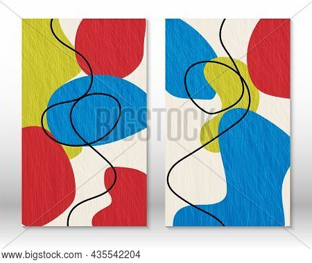 Set Of Geometric Shapes. Scribble Design Modern Abstract Painting. Abstract Hand Drawn Shapes. Water