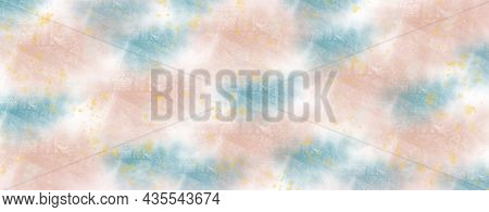 Abstract Background With Blurred Spots And Splashes Of Delicate Shades. Imitation Of Drawing With Pa