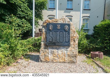Hel, Poland - July 20, 2021: Monument In Tribute To The Defenders Of Hel.