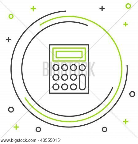 Line Calculator Icon Isolated On White Background. Accounting Symbol. Business Calculations Mathemat