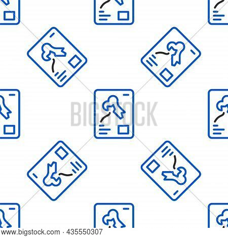 Line X-ray Shots Icon Isolated Seamless Pattern On White Background. Colorful Outline Concept. Vecto