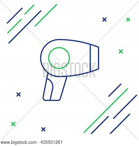 Line Hair Dryer Icon Isolated On White Background. Hairdryer Sign. Hair Drying Symbol. Blowing Hot A