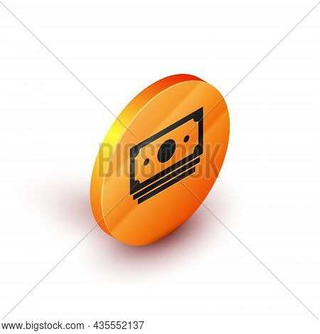 Isometric Stacks Paper Money Cash Icon Isolated On White Background. Money Banknotes Stacks. Bill Cu