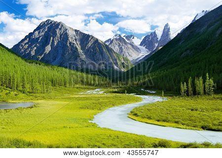 Altai mountain - savlo or szavlo valley - Russia