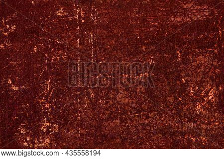 Seamless Texture - Thick Layer Of Brown Rust Of Scratched Steel Sheet Surface - Full Frame Backgroun