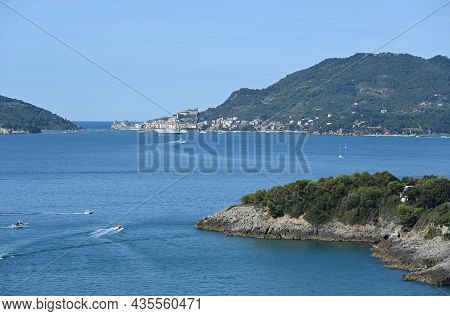 Landscape On The Gulf Of Poets, The Promontory Of Maralunga And Portovenere In The Background