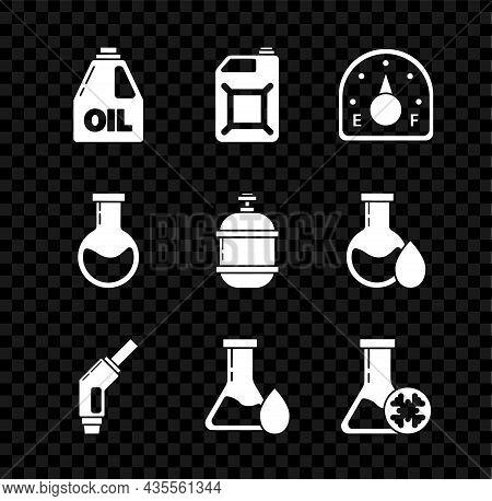 Set Canister For Motor Machine Oil, Gasoline, Motor Gauge, Gasoline Pump Nozzle, Oil Petrol Test Tub