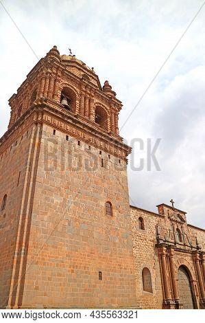 Basilica Menor De La Merced Or The Convent Of La Merced, Part Of Unesco Word Heritage Site In Cusco,