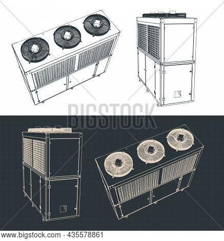 Outdoor Unit Of Industrial Air Conditioner