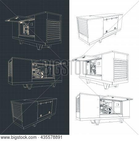 Silent Diesel Generator Drawings